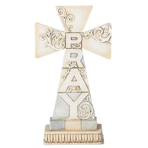 "CROSSWORD TABLETOP CROSS PRAY 10.5""H"