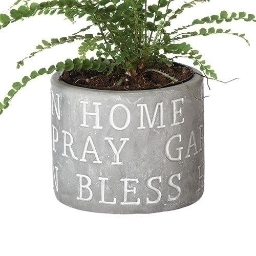 "POT - HOME  PRAY  BLESS 3.25""H"