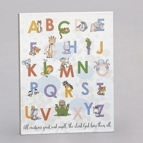 "ANIMAL ALPHABET PLAQUE 14""H"