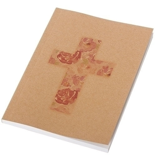 "NOTEBOOK - CROSS W/VERSE AT BOTTOM OF VARIOUS PAGES 6.5""H"