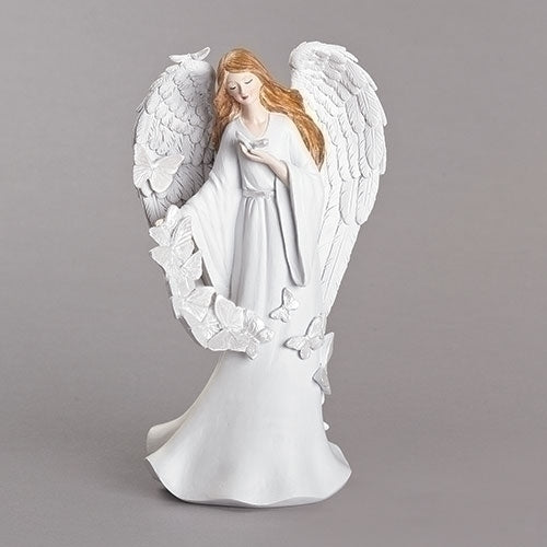 "Butterfly Memorial Angel Figure 8.25""H"
