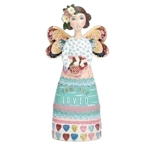 "You Are Loved Angel 5.25""H ORN"