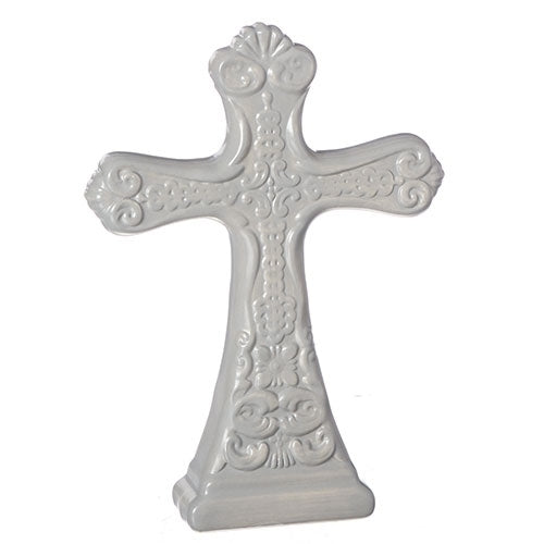 "TABLE CROSS - 8""H DARK GREY"