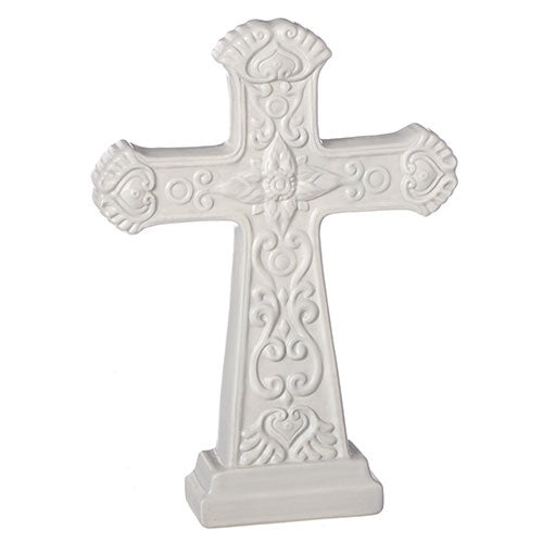 "TABLE CROSS - 9.25""H LIGHT GREY TABLE CROSS"