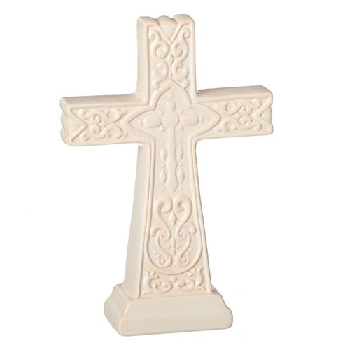 "CROSS - 7.25""H TAN TABLE CROSS"