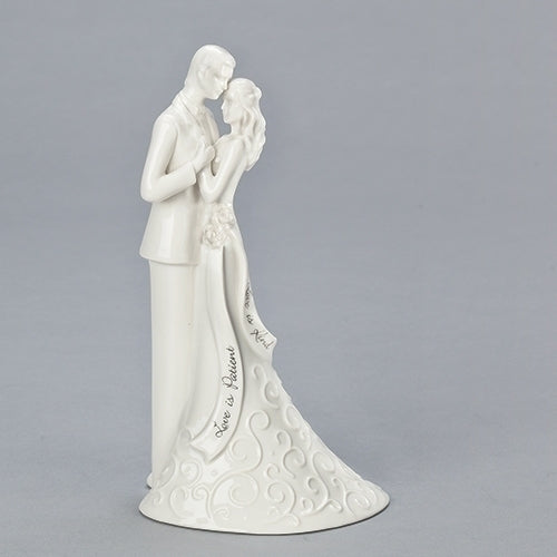 "CAKE TOPPER WEDDING 8.5""H"