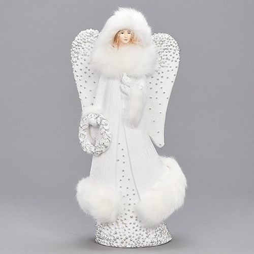 "Angel with Fur 12.5""H"