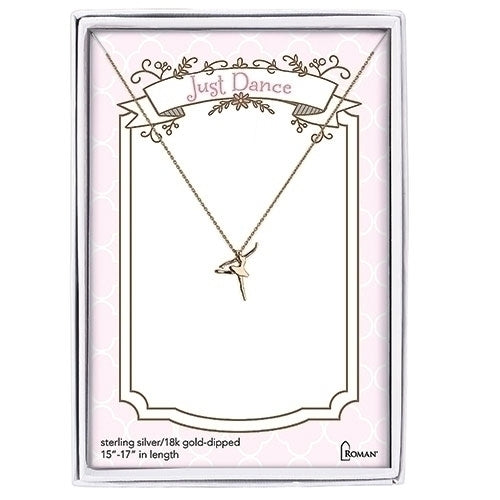 "DANCE NECKLACE - GOLD 15-17""L"