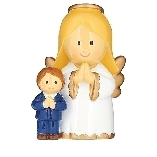 "ANGEL W/COMMUNION BOY FIGURE 3""H"