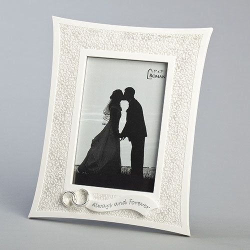 "Lace Wedding Frame 10""H"