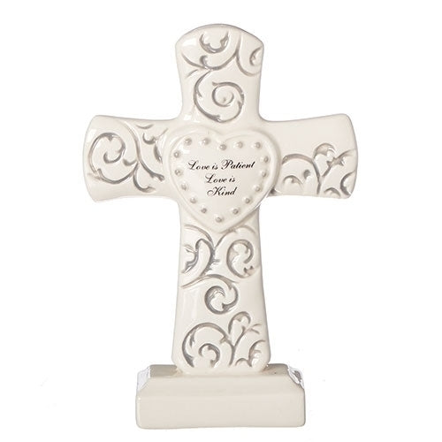 "7.25""H MR & MRS SCROLL CROSS"