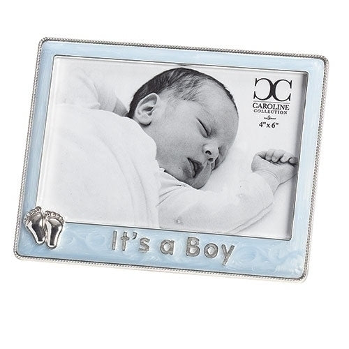 "BOY - IT'S A BOY FRAME BLUE 6X4 5""H"