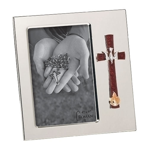 "Confirmation Frame with Dove and Flame 7""H"