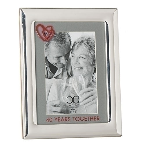 "40 YEARS TOGETHER FRAME 8.5""H"