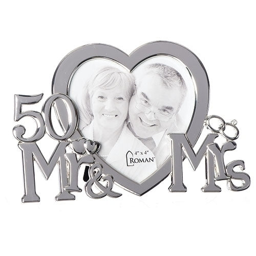 "50TH HEART FRAME 4X4 4.75""H"