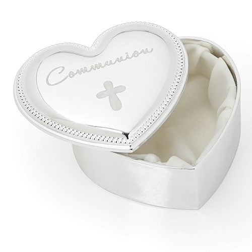 "HEART BOX - COMMUNION 2.5""H"