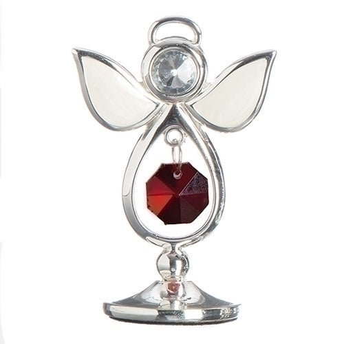 "BIRTHSTONE ANGEL KEEPSAKE - JANUARY 2.75""H"