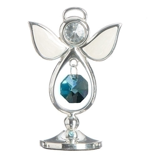 "BIRTHSTONE ANGEL MARCH KEEPSAKE 2.75""H"