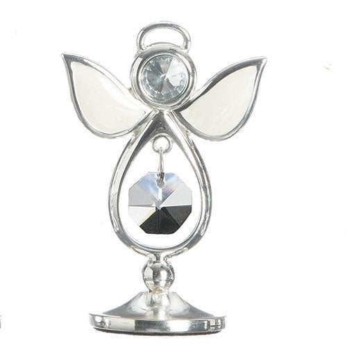 "BIRTHSTONE ANGEL KEEPSAKE - APRIL 2.75""H"