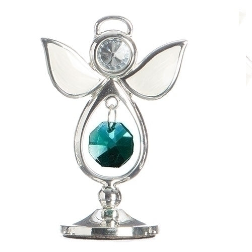 "BIRTHSTONE ANGEL KEEPSAKE - MAY 2.75""H"