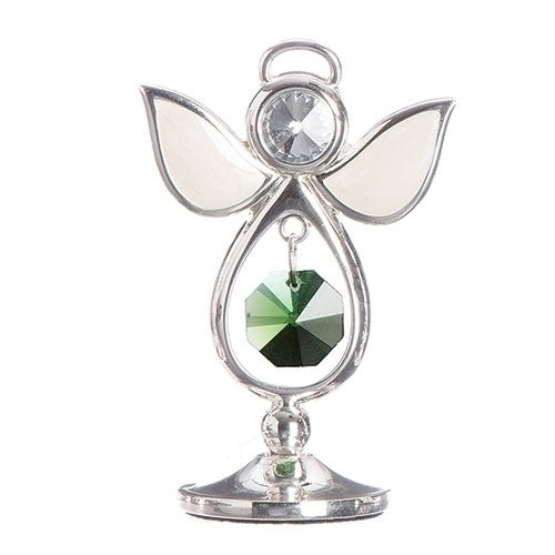 "BIRTHSTONE ANGEL AUGUST KEEPSAKE 2.75""H"