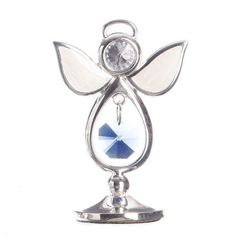 "BIRTHSTONE ANGEL DECEMBER KEEPSAKE 2.75""H"