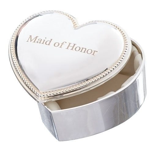 "HEART BOX - MAID OF HONOR 2.5""H"