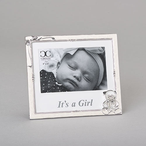 "GIRL - IT'S A GIRL FRAME 4X6 6.5""H"