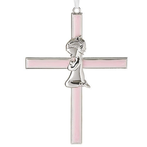 "Pink Girl Cross 6.25""H"