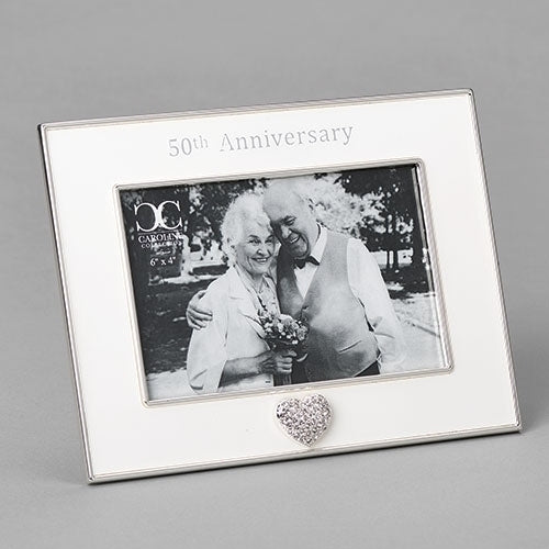 "50th Anniversary Frame with Heart 7""H"