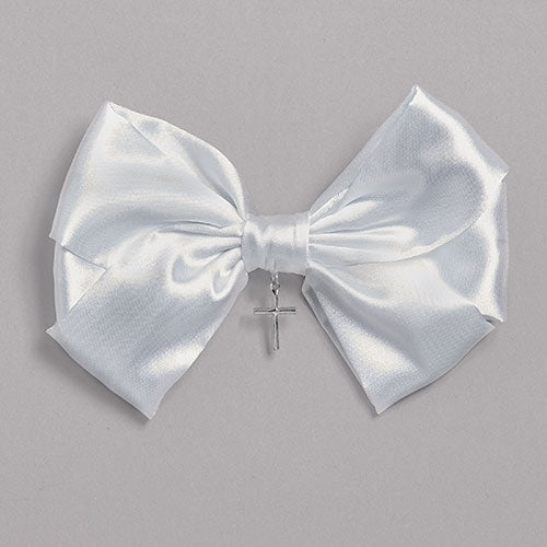 "Hair Bow with Cross Communion 4""H"