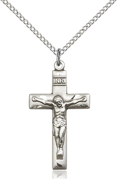"Crucifix Necklace 18"" Chain"