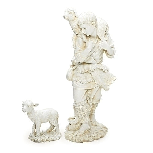 "SHEPHERD/LAMB W/ 27"" SCALE 2PC"