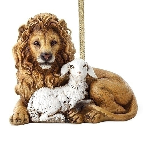 Lion and Lamb Ornament 3""