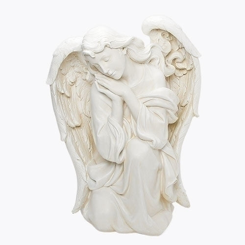 "ANGEL - WHITE KNEELING ANGEL 39"" SCALE"