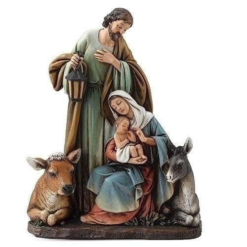Holy Family with Animal Figure 7.5""
