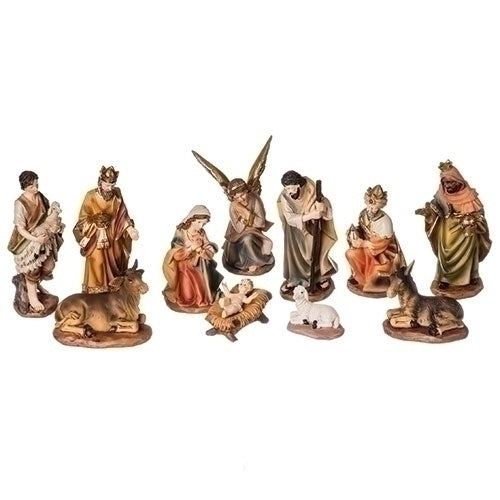 "NATIVITY - 6""H 11 PC SET COLOR  NATIVITY"