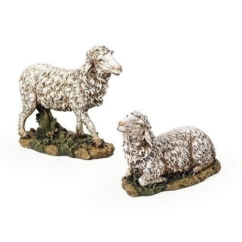 "Sheep Color 2pc ST 27"" Scale"