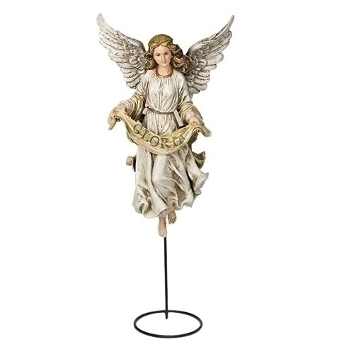 "Angel on Stand 27"" Scale 30""H"