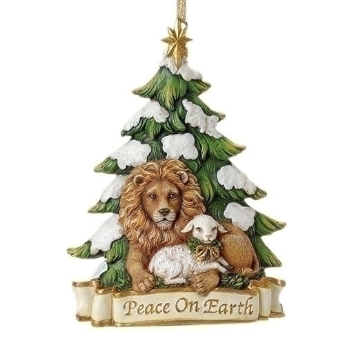 Lion and Lamb Ornament 5.25""