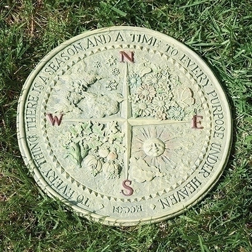 "SEASONS - 4 SEASONS GARDEN PLAQUE 12""D"