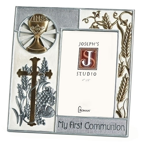 "8""H COMMUNION FRAME 4x6 SILVER"
