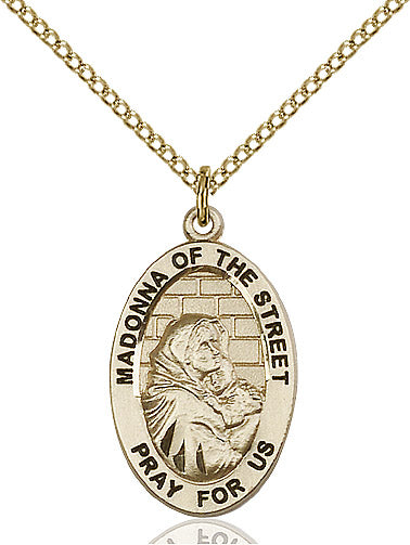 Madonna of the Street Necklace Gold Filled 18""