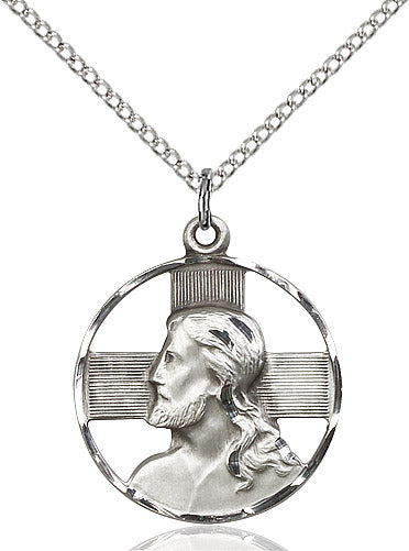 "Head of Christ Necklace on 18"" Chain"