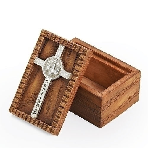 "CONFIRMATION BOX WOOD 1.75""H"