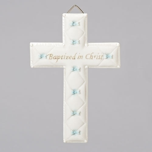 "Baptism Boy Wall Cross 6.5""H"