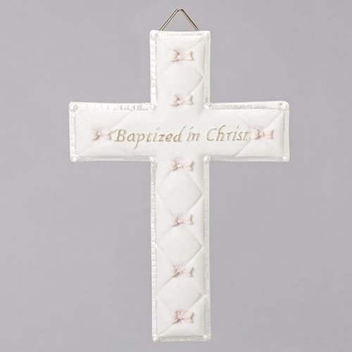 "Baptism Wall Cross for Girls 6.5""H"