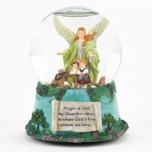 "MUSICAL GUARDIAN ANGEL DOME 5.7""H 100MM"