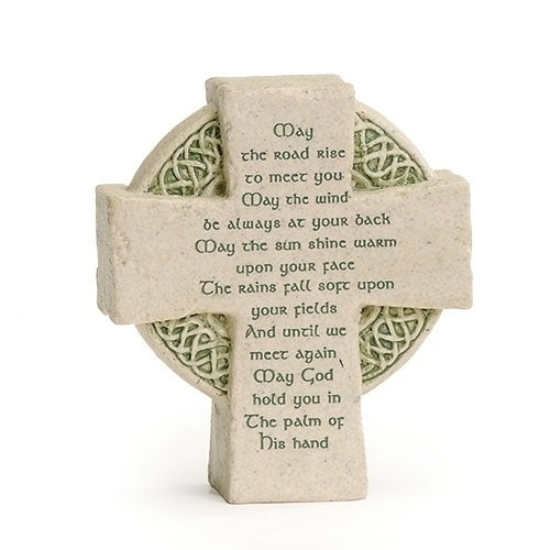 "CELTIC CROSS W/VERSE 3.5""H FAITHSTONES"