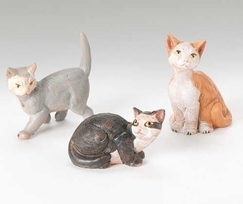 "CATS - 5"" SCALE 3 PC SET CAT FAMILY"